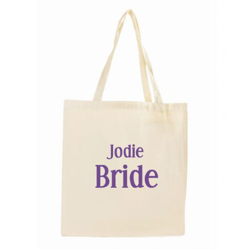 Personalised Bride Cotton Tote Bag